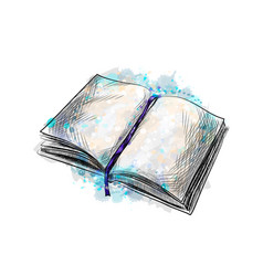 open book hand drawn sketch vector image