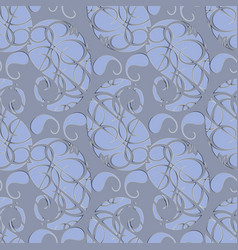 Paisleys seamless pattern abstract grey floral vector