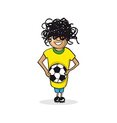 Profession football player man cartoon figure vector image
