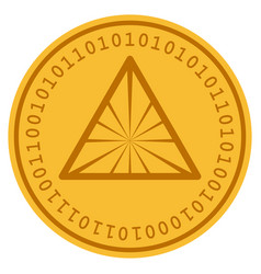 Pyramid digital coin vector