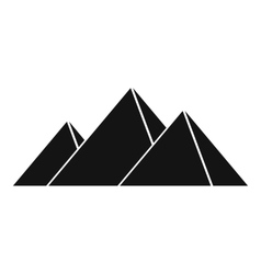 Pyramids in Giza icon simple style vector image