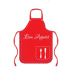 Red apron vector