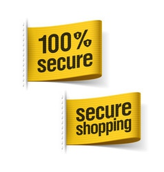 Secure shopping labels vector