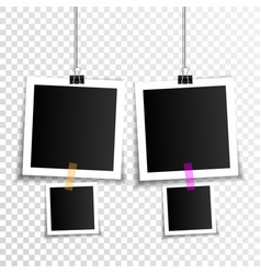 set empty photo frames vector image