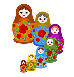 Set of nested dolls vector