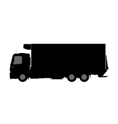 Silhouette of a truck on a white background vector image