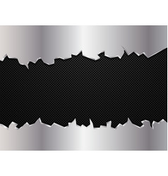 silver and black metal background vector image