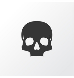 skull icon symbol premium quality isolated vector image