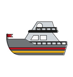 small boat isolated vector image