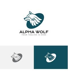Strong leader alpha wolf head wild wildlife logo vector