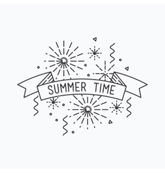 Summer time Inspirational vector image