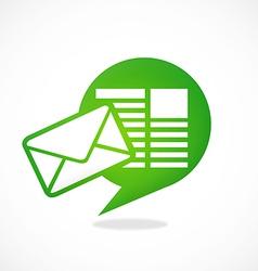 talk message communication media logo vector image