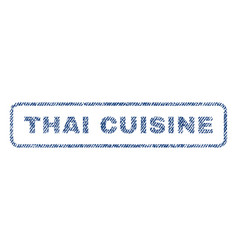 thai cuisine textile stamp vector image