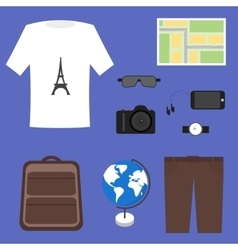 Tourist outfit vector image