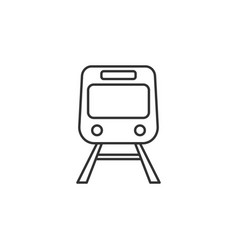 train transport line icon simple modern flat for vector image