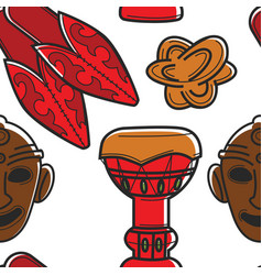 Tunisian symbols seamless pattern ethnic vector