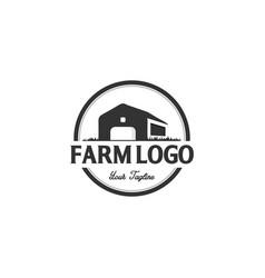 vintage farm logo design vector image