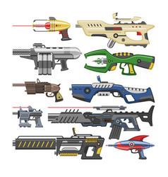 Weapon blaster laser gun with futuristic vector