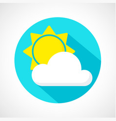 weather little cloudy day icon vector image