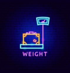Weight neon label vector
