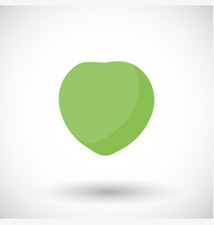 young green coconut flat icon vector image