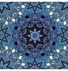Blue seamless design in oriental style Stellar vector image