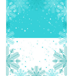christmas template light blue and white vector image vector image