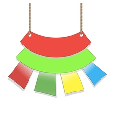 colored flags hanging form suspended sales signs vector image vector image
