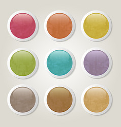 grunge buttons vector image
