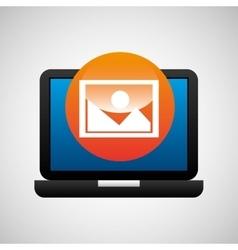 laptop icon image social media vector image