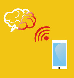 Radiation from mobile phone lead to brain damage vector