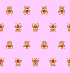 teddy bear kids seamless pattern vector image vector image
