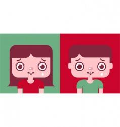a boy and a girl vector image