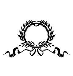 Black heraldic wreath with elements vector image