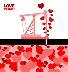 Love pump extraction of love oil rig rocking love vector
