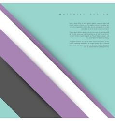 Modern material design vector