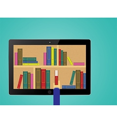 chooses eBooks in the Internet store vector image vector image