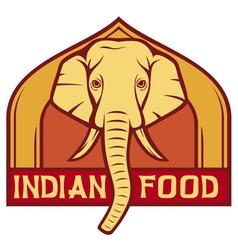 indian food label design vector image vector image