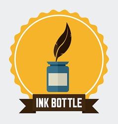 ink bottle design vector image