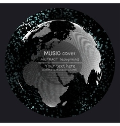 Music album cover templates World globe global vector image