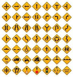 Warning Traffic Signs Set vector image