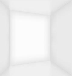 White simple empty room interior vector image