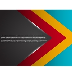 Black and red corporate tech striped graphic vector image vector image