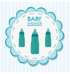 Bottle of baby shower card design vector image vector image