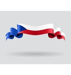 Czech wavy flag vector image vector image