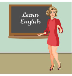 english woman teacher vector image vector image