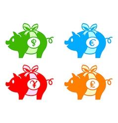 piggy banks vector image
