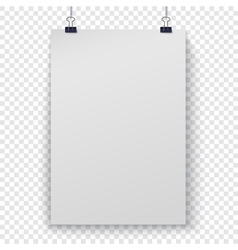 Poster template on checker background vector image vector image