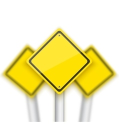 Road Red Stop Sign with Blurred Signs vector image