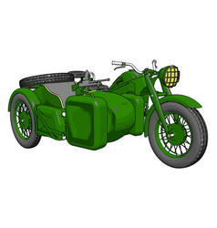 3d on white background a military motorcycle vector image